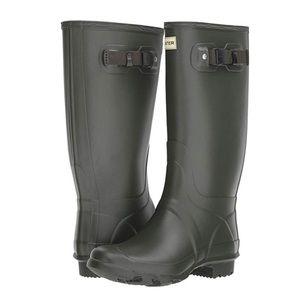 Hunter Huntress Field Dark Olive Boots Sz 7F